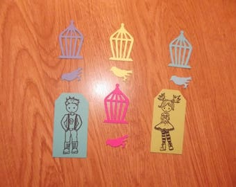 Set of cut outs for scrapbooking.