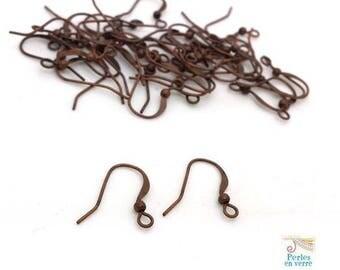 20 pairs earring hooks copper brass nickel free (BO41)