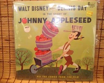 Vintage Walt Disney Johnny Appleseed Vinyl LP Record - Factory Sealed - C. 1964