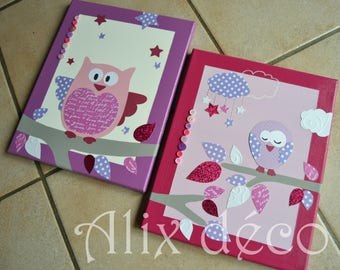 Table decoration for child theme OWL - owl (made to order)