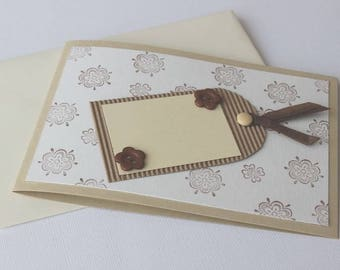 Card any occasion Brown ivory tones