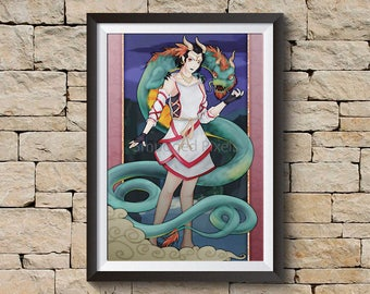 Dragon Charmer Art Print