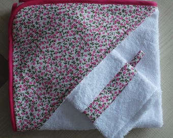 bath towel with a washcloth
