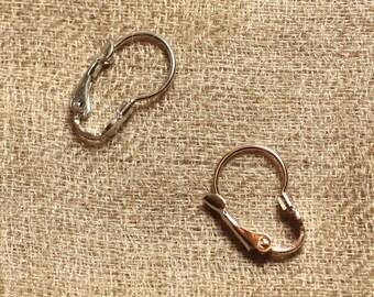 10pc - earrings sleepers silver Metal Rhodium 16mm - 4558550011367