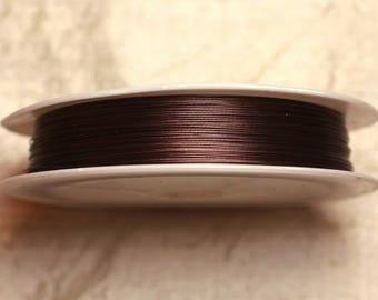 Spool 70 m - Metal Wire 0.38 mm Brown 4558550012234 chocolate brown thread