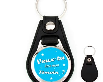 Leather key fob will you be my best man?