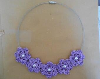 crochet jewelry flower