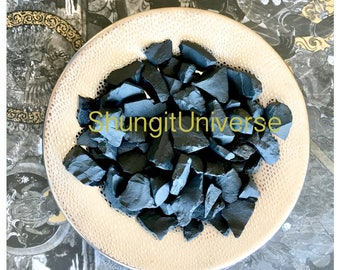 Schungite stone chips,EMF protection & healing,Detoxification stone,Fullerene water,Antioxidant, stones for filter