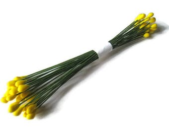 average 50 size yellow pistils green stem