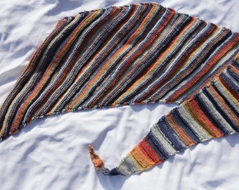 Scarf, multicolor shawl of original z shaped