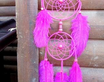 Dream catcher / Rose / ostrich feathers