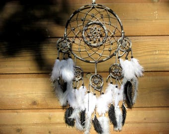 Dream catcher complex / black, grey, white / actual 65 cm