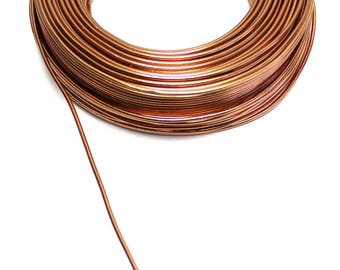 Aluminum wire copper with a diameter of 2 mm the meter