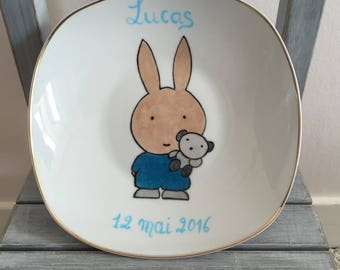 """Personalized """"Little rabbit"""" child/baby plate"""