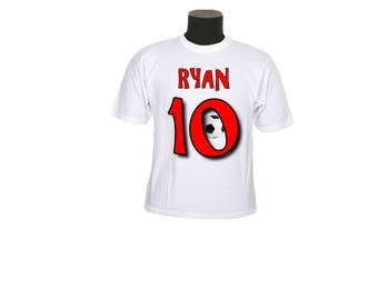 t-shirt kids pattern No. 10 customizable ref 126 football