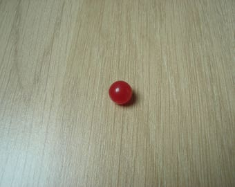 Pearl 9 mm red reflection resin button
