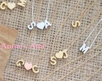 Sterling Silver Letter Initial Necklace I Tiny Initial Necklace I Letter Jewelry I Custom Jewelry I Alphabet Necklace I Dainty Jewelry