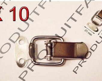 10 clasp latch spring loaded metal trunk case box tool box screws included