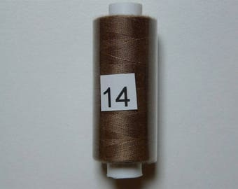 Spool of thread polyester 360 m Brown copper
