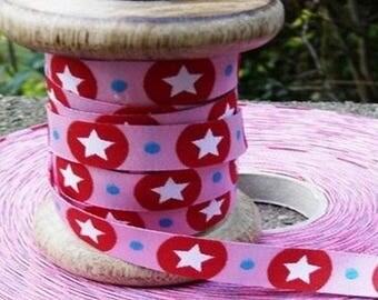 Pink Ribbon stripe red white stars