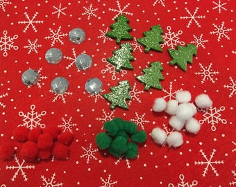 Kit scrapbooking Christmas decoration, art, hobby