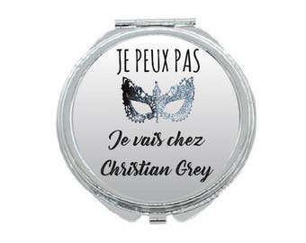 """Pocket mirror """"I can't I'm going to Christian Grey"""""""