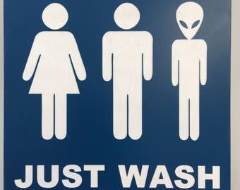 Unique Restroom Sign Etsy