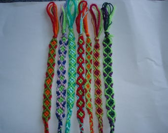 set of 7 bracelets handmade stretchy adults or children