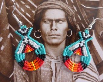 Earrings Indian navajo Miyuki