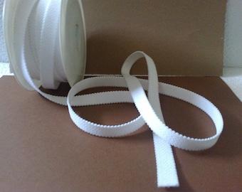 White lingerie elastic off large 1.5 cm