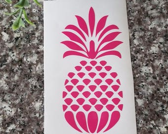 Pineapple Vinyl Decal/Pineapple Sticker/Car Decal/Cute Girl Decal/Laptop Decal/Yeti Cup Decal/Locker Decal/Trendy Decal