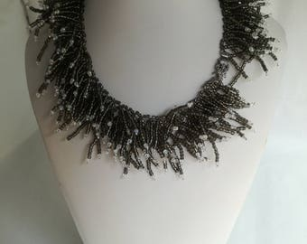 Handmade necklace with Czech Beads.