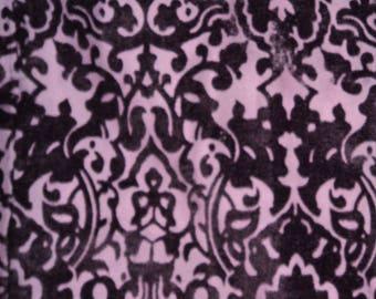 Fabric Panel pattern purple velvet Baroque