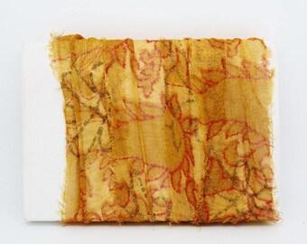 Beautiful recycled sari Silk Ribbon