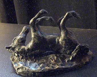 """Art déco statuette """"Cheval joueur"""", création artisanale de qualité"""
