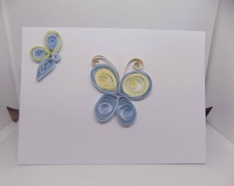 Butterfly Quilled Card
