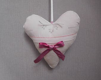 heart door and old embroidery