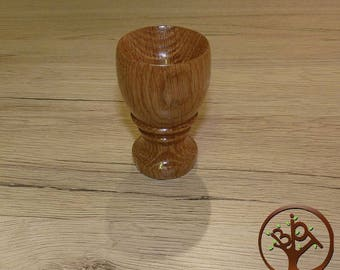 Oak wooden egg Cup