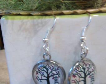 earring tree glass cabochon