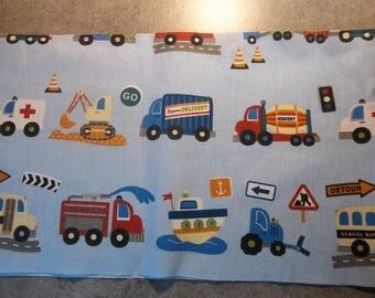 "blue cotton fabric coupon ""transportation"""