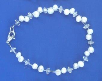 Pearl bracelet Perlen armband t Bracelet en perle