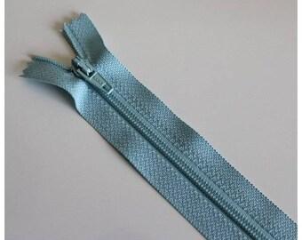 Blue not separable zipper clear 18 cm, couture quality zipper