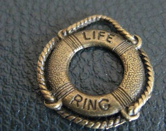 1 Charm pendant Lifesaver charm bronze