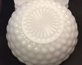Bubble Milk Glass Serving Bowl, Vintage Anchor Hocking Bubble Glass Bowl, 5 Available