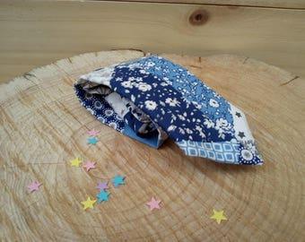 Child tie (2-10 years) white blue Patchwork