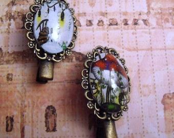 2 pins chapignon and landscape magical hair clips