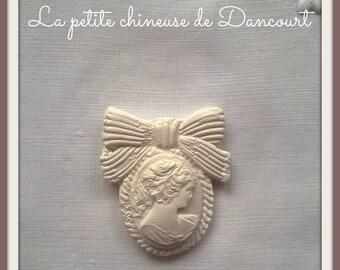 Cameo decorative plaster medailon