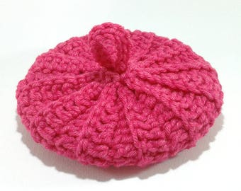 Cotton/acrylic 10 cm hot pink Tawashi