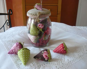 jar filled with fragrant Strawberry
