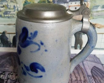 German Salt Glazed Stoneware Tankard